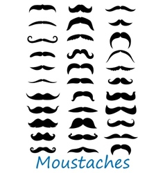 Moustache icons set vector