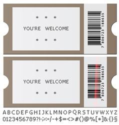 Modern tickets vector
