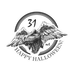 Design element for halloween hand drawn eps 8 vector