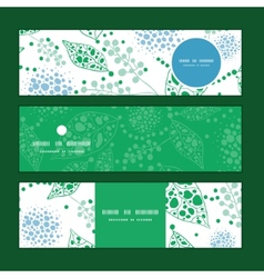 Abstract blue and green leaves horizontal vector