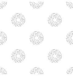 Interlocking circles repeat tile pattern vector