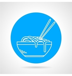 Noodles blue round icon vector