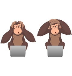 Monkey and computer vector