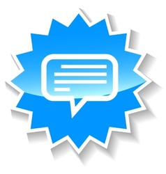Talk blue icon vector
