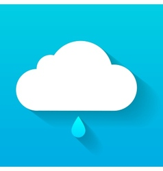 Day cloud and rain drop isolated on blue vector
