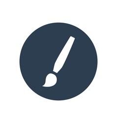 Paint brush flat icon vector