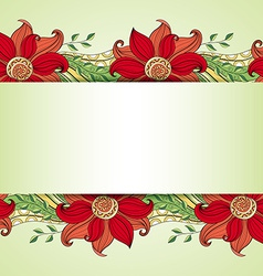 Floral decorative design vector
