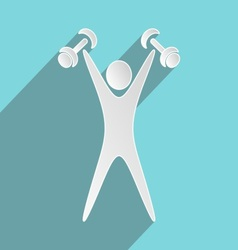 Exercising figure vector