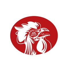 Rooster cockerel crowing vector
