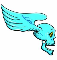 Flying skull with wings illustration vector