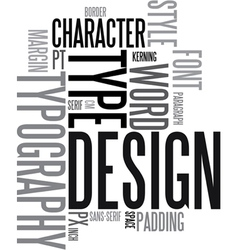 Design and typography vector