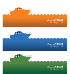 Boat banners vector