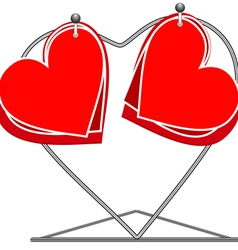 Hearts on a rack vector