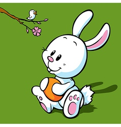 White easter bunny vector