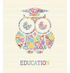 Education wisdom owl concept vector