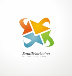 Email marketing creative design concept vector