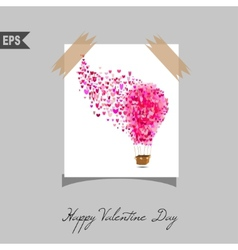 Happy valentines day cards with gift on background vector