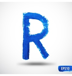 Alphabet letter r watercolor alphabet vector