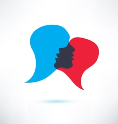 Speech bubble abstract shape icon vector