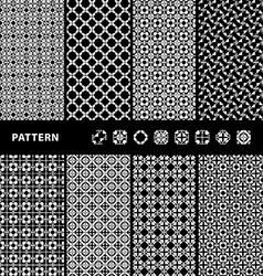 Black and white seamless patterns vector