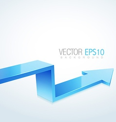 3d arrow in isolated background vector
