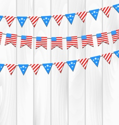 Set bunting pennants vector