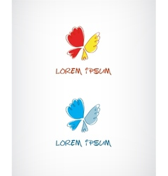 Butterfly logo for your company vector