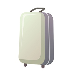 A traveling bag is placed vector