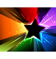 Rainbow star vector