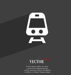 Train icon symbol flat modern web design with long vector
