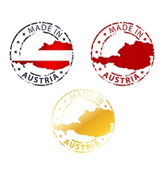 Made in austria stamp vector