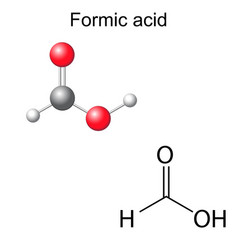 Chemical formula and model of formic acid vector