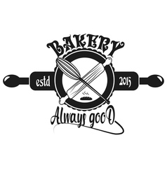 Vintage retro bakery badges and labels vector