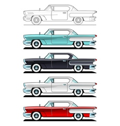 Classic cars 60s vector