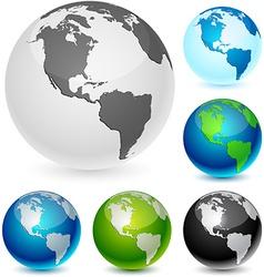 Earth balls - america vector
