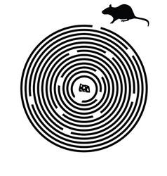 Black maze puzzle vector