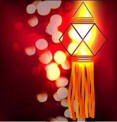 Shiny lamp vector