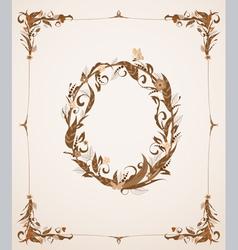 Retro vintage letter in a frame vector