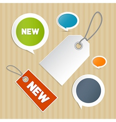 Set of labels tags vector