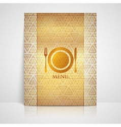 Restaurant menu design with plate fork and knife vector