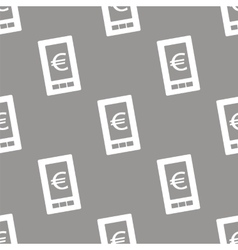 Euro phone seamless pattern vector