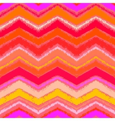 Hand drawn zigzag pattern in tropical coral red vector