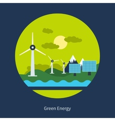 Concept of green energy vector