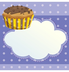 A stationery with a mocha flavored cupcake vector