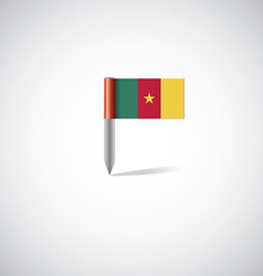 Cameroon flag pin vector