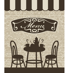 Menu with a table vector