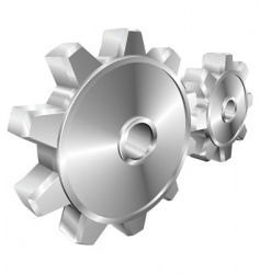 Mechanical cogs vector