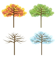 Four trees of different seasons vector