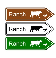 Sign ranch vector