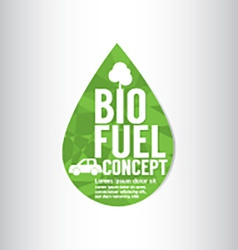 Bio fuel green concept vector
